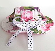 Cat Dog Bandanas & Hats Pink Dog Clothes Summer Spring/Fall Flower Wedding Holiday Casual/Daily