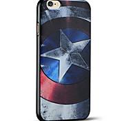caso do Capitão América escudo macio capa protetora iphone para 6s iphone Plus / iphone 6 mais