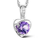 Ожерелье Ожерелья с подвесками Бижутерия Повседневные Камни по месяцу рождения Стерлинговое серебро Серебряный 1шт Подарок