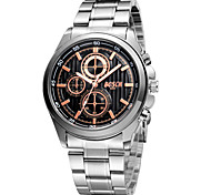 Men's White Case Silver Stainless Steel Band Wrist Dress Watch Wrist Watch Cool Watch Unique Watch