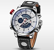WEIDE® Luxury Brand Genuine Leather Watch Men Quartz Digital Fashion Military Sports Wristwatch Cool Watch Unique Watch