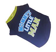 Perros Camiseta Azul Ropa para Perro Verano Letra y Número Moda