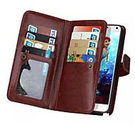 telefone de luxo caso 9 cartão de couro entalhe carteira caso da tampa da aleta para Samsung Galaxy Note 3 / nota 4 / nota 5 (cores