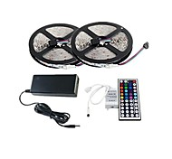 ZDM™ 2×5M 150X5050 SMD RGB LED Strip Light and 44Key Remote Controller and 6A US Power Supply (AC110-240V)