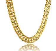 Муж. Ожерелья-цепочки Круглый В форме линии Платиновое покрытие Позолота Позолоченный Сплав По заказу покупателя бижутерия Бижутерия