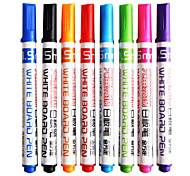 Plastic Business Permanent Markers(8pcs)