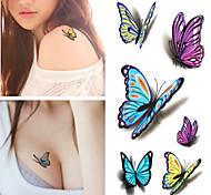 RC-Tatoeagestickers-Waterproof-Dieren Series- voorDames / Heren / Volwassene-Meerkleurig-PVC-1pcs- stuks10.5*6cm-butterfly