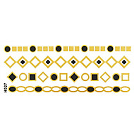 1Pc Gold Black Long Bracelet Tattoo Sticker 14x6CM