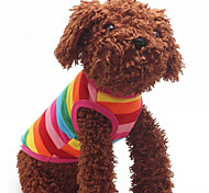 Rainbow Striped Pet T-Shirt