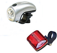 Eclairage de Velo Avant Bike Light / Rear Bike Light LED Transport Pratique 100 Lumens Batterie Autres Rouge / Argent Cyclisme-Autres