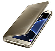 Luxury Clear View Mirror Flip Smart Case Cover For Samsung Galaxy S7 Edge/S7/S6 Edge Plus/S6 Edge/S6