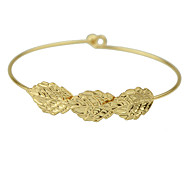 Gold Silver Plated Leaf Shape  Bracelet