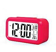 Großbild-LCD-elektronische Uhr faul Lichtinduktion Snooze Wecker intelligente Wecker (sortierte Farbe)