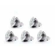 5W GU5.3(MR16) Faretti LED MR16 4 350-400 lm Bianco caldo DC 12 V 5 pezzi