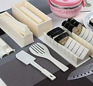 Sushi Cooking Tools DIY 10 pcs Sushi Maker Sushi Roll Tools Rice Ball Mould