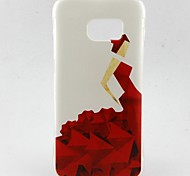Red Dress Girl Pattern TPU Soft Case for Galaxy S7 Edge/Galaxy S7/Galaxy S6