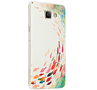 Relief Graphic Pattern Fashion Silicone Material Back Cover for Galaxy A7100