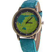 Men's Canvas With World Map Watch Wrist Watch Cool Watch Unique Watch