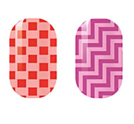 rouge / violet creux ongles autocollants