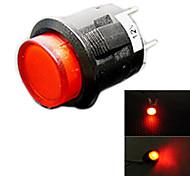 interruptor de botão carro jtron com luz vermelha / azul levou - (12v)