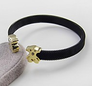 Bear Clasp Net Wire Stainless Steel Cuff Bangle