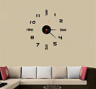 2016 Simple Fashion English Digital TV Background Wall Clock Acrylic Crystal Clock