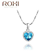 ROXI Silver Blue Heart Pendant Necklace Jewelry