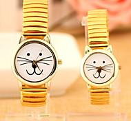 Mulheres Relógio de Moda Quartz Lega Banda Amarelo marca-