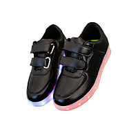 Boy's / Girl's / Women's Summer Round Toe / Sandals Leatherette Outdoor / Casual / Athletic Flat Heel Magic Tape / LED Black / White