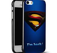 superman gravado caso do iphone capa protetora volta suave para iphone SE / iphone 5s / 5