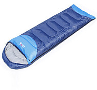 Спальный мешок Прямоугольный Односпальный комплект (Ш 150 x Д 200 см) 10°C Пористый хлопокX75 Пешеходный туризм ПоходыСохраняет тепло