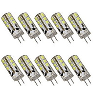 3W G4 2-pins LED-lampen T 24 SMD 2835 180LM lm Warm wit / Koel wit Decoratief DC 12 V 10 stuks