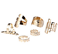 Ring Daily / Casual Jewelry Alloy Women Statement Rings 1set,One Size Gold