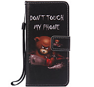 Bear Lanyard Painted PU Phone Case for Huawei P9/P9lite