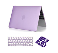 "3 in 1 Crystal Clear Soft-Touch  Case with Keyboard Cover and Dust plug for MacBook Pro 13""/15'' with Retina"