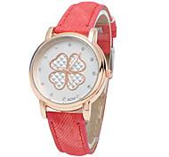 Women's Fashion Clovers Denim Simulation Showed That The Quartz Watch (Assorted Colors) Cool Watches Unique Watches