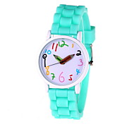 Women's Fashionable  Leisure Silicone Quartz  Watch Silicone Band