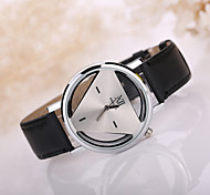 Men's Triangle Case Leather Band Wrist Watch Cool Watch Unique Watch