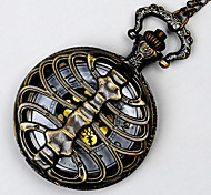 Unisex Pocket Watch Bronze Queen Spine Quartz Flip Pocket Watch