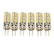 1.5W G4 LED-maïslampen T 24 SMD 3014 90 lm Warm wit / Koel wit Decoratief DC 12 V 6 stuks