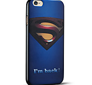 superman gravado caso do iphone capa protetora volta suave para 6s iphone Plus / iphone 6 mais