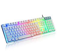 радуги механический сенсорный проводной USB водонепроницаемый ноутбук Desktop Pro с подсветкой клавиатуры компьютера