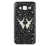 For Samsung Galaxy Case Embossed Case Back Cover Case Black & White TPU Samsung J5 / Core Prime