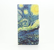 Van Gogh Painting Painted PU Phone Case for Huawei Ascend P9 Lite