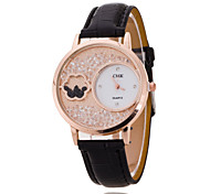Ladies' Wrist Watch The New Fashion Crystal Ball Diamond PU Band Quartz Watch(Assorted Colors)