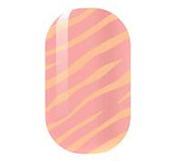 orange, ongles autocollants creux