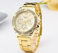 Women's Fashion Watch Simulated Diamond Watch Imitation Diamond Quartz Alloy Band Silver Gold Rose