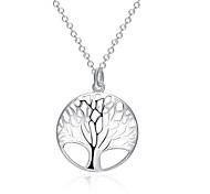 Жен. Ожерелья с подвесками Бижутерия Дерево жизни Серебрянное покрытие Базовый дизайн Бижутерия ДляСвадьба Для вечеринок Особые случаи