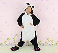 Kigurumi Pijamas nueva Cosplay® / Oso Panda Leotardo/Pijama Mono Halloween Ropa de Noche de los Animales Blanco / Negro Retazos Franela