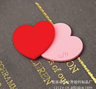 2PCS Cute Cartoon Love Bookmarks Clips Lovely Red Pink Rubber Bookmark Korean Stationery Gift(Style random)